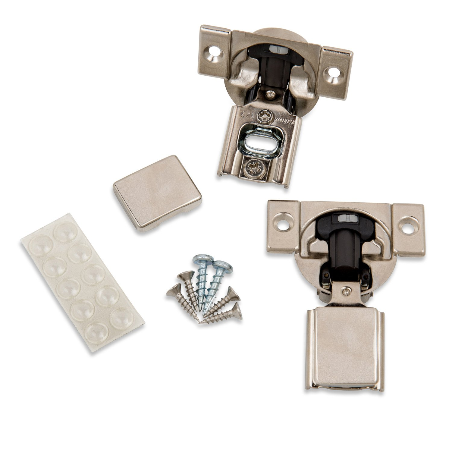 Blum (10 Pack) 1/2'' Overlay Soft Close Hinge 38N355B.08 105° Blumotion with Screws, Cover Caps, ProCabinetBumpers Bumpers