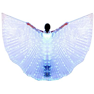 Belly Dancing New Belly Dance Lamp Props Women Belly Dance Open 360 Degrees Led Shining Wings Girls Wings Angle Of Opening Dancer Props Wings At Any Cost Novelty & Special Use