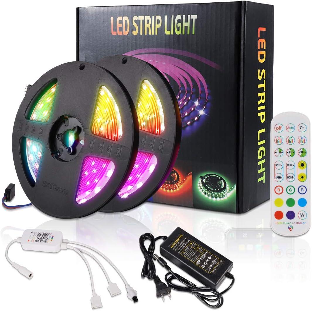 LED Strip, RGB LED Streifen, Led Bänder via App mit Musik