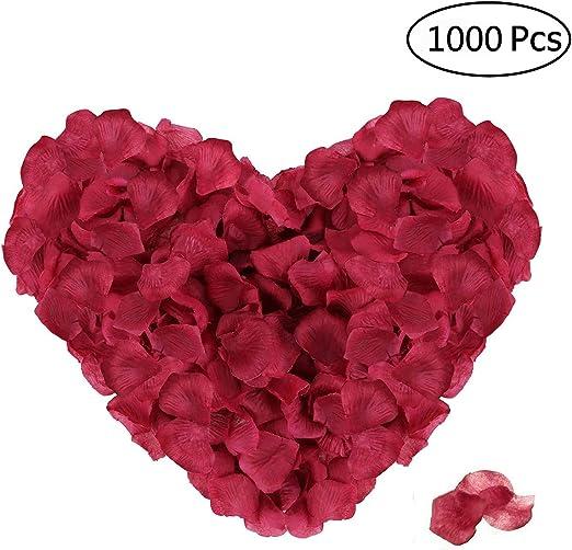 100//1000Pcs Heart Shaped Petals Confetti Romantic Wedding Wedding Celebration
