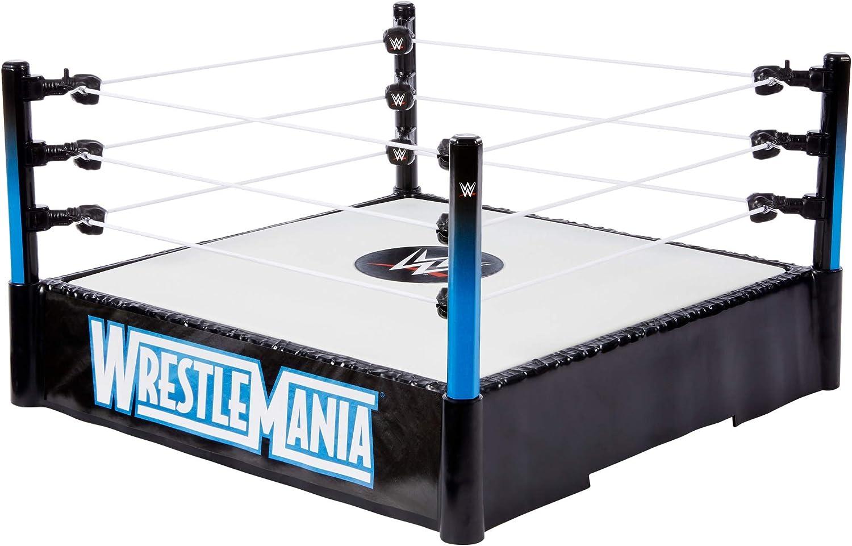 WWE - Ring WrestleMania Accesorio para las figuras de acción de los luchadores (Mattel GDB88)