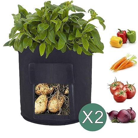 Scoolr bolsas de cultivo de patata, 2 bolsas de cultivo de 7 ...