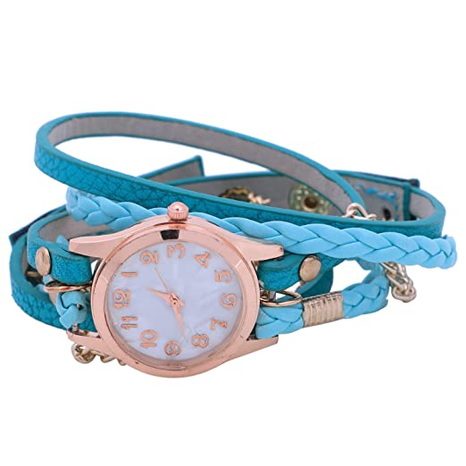 TOOGOO Reloj de mujer pulsera tejida a mano Reloj de cuarzo para senora Reloj de pulsera