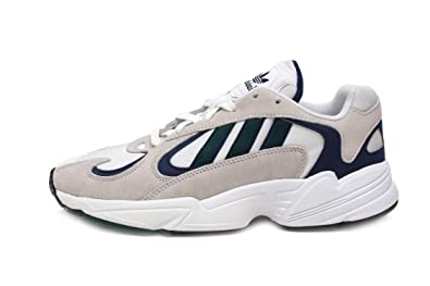 adidas Yung-1 Mens in White Noble Green Dark Blue 265675191