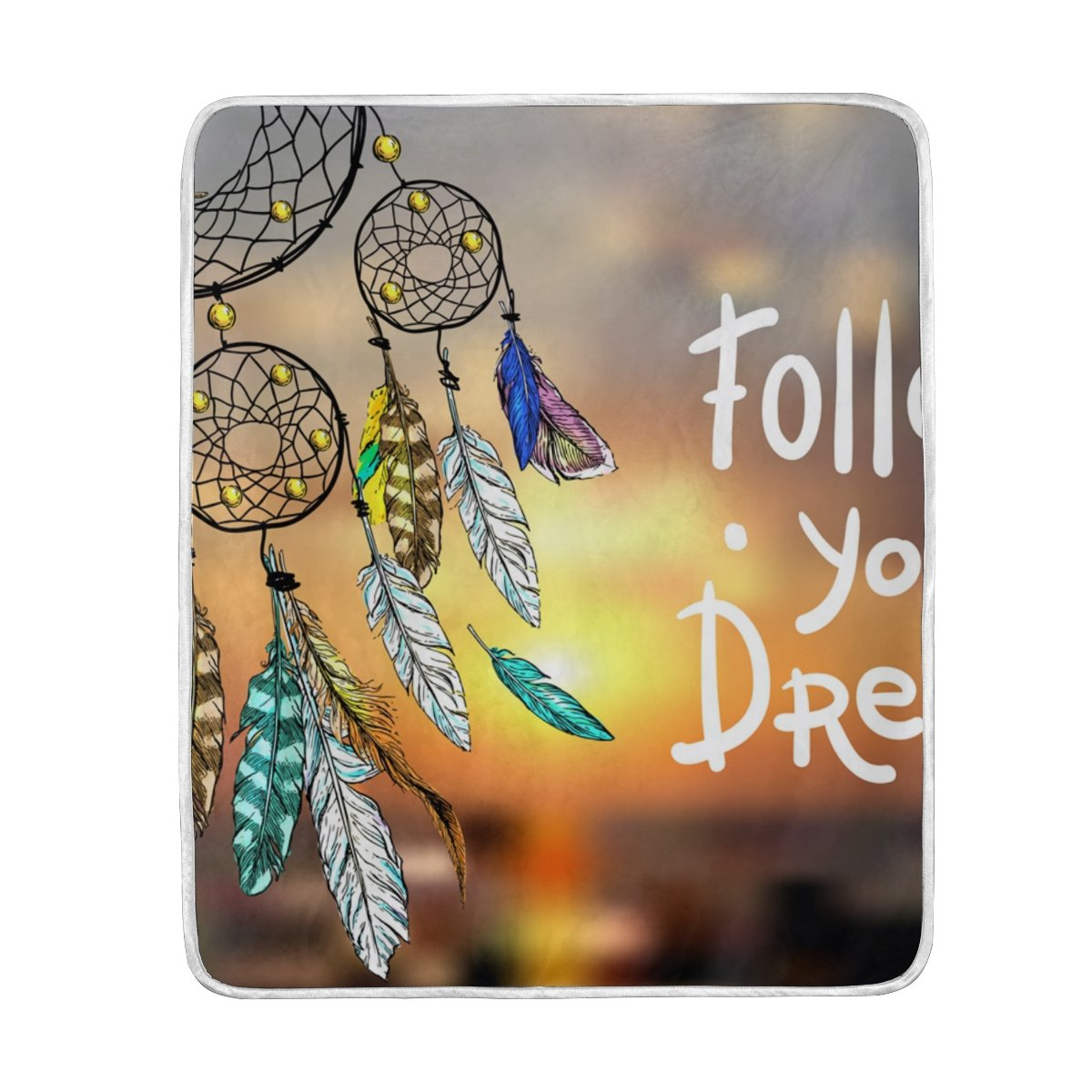My Little Nest Follow Your Dream Beautiful Catcher Soft Throw Blanket Lightweight MicrofiberCozy Warm Blankets Everyday Use for Bed Couch Sofa 50'' x 60''