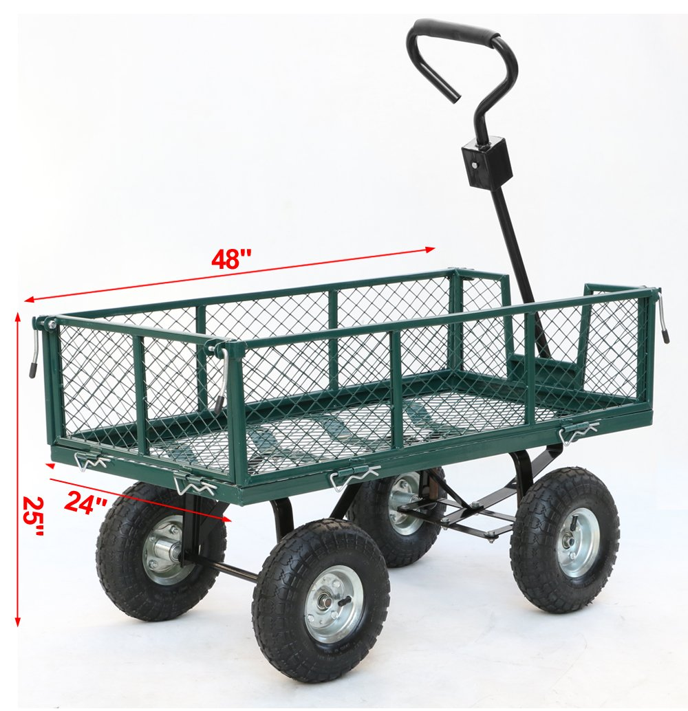 Elegant Amazon.com : Yaheetech Steel Crate Wagon Garden Cart Trailer Yard Gardening  Patio 800 Lbs Load Capacity : Garden U0026 Outdoor