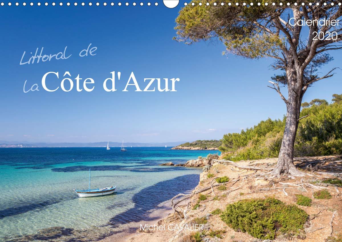 Littoral De La Côte D'Azur  Calendrier Mural 2020 DIN A3 Horizontal