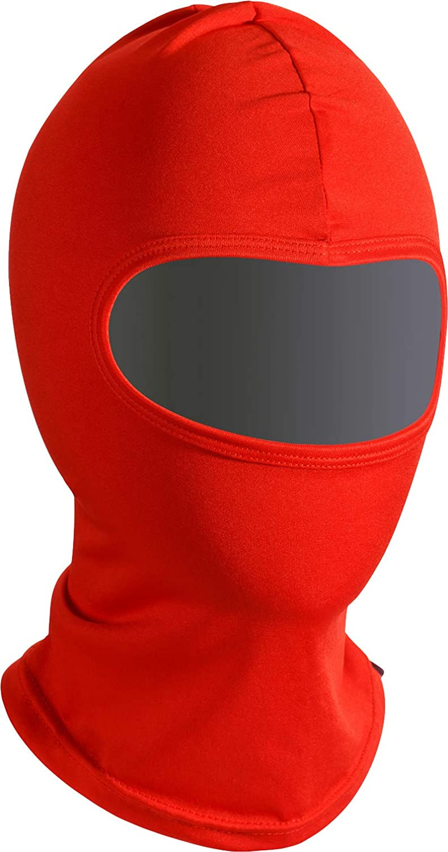"Soxon® SH-1 ""Red"" · Sturm-Haube · Balaclava Ski-Maske Halswärmer Nahtlos Unisize Motorrad-Helm Kinder Kappe Roller Scooter Mofa Jet Cap Outdoor"