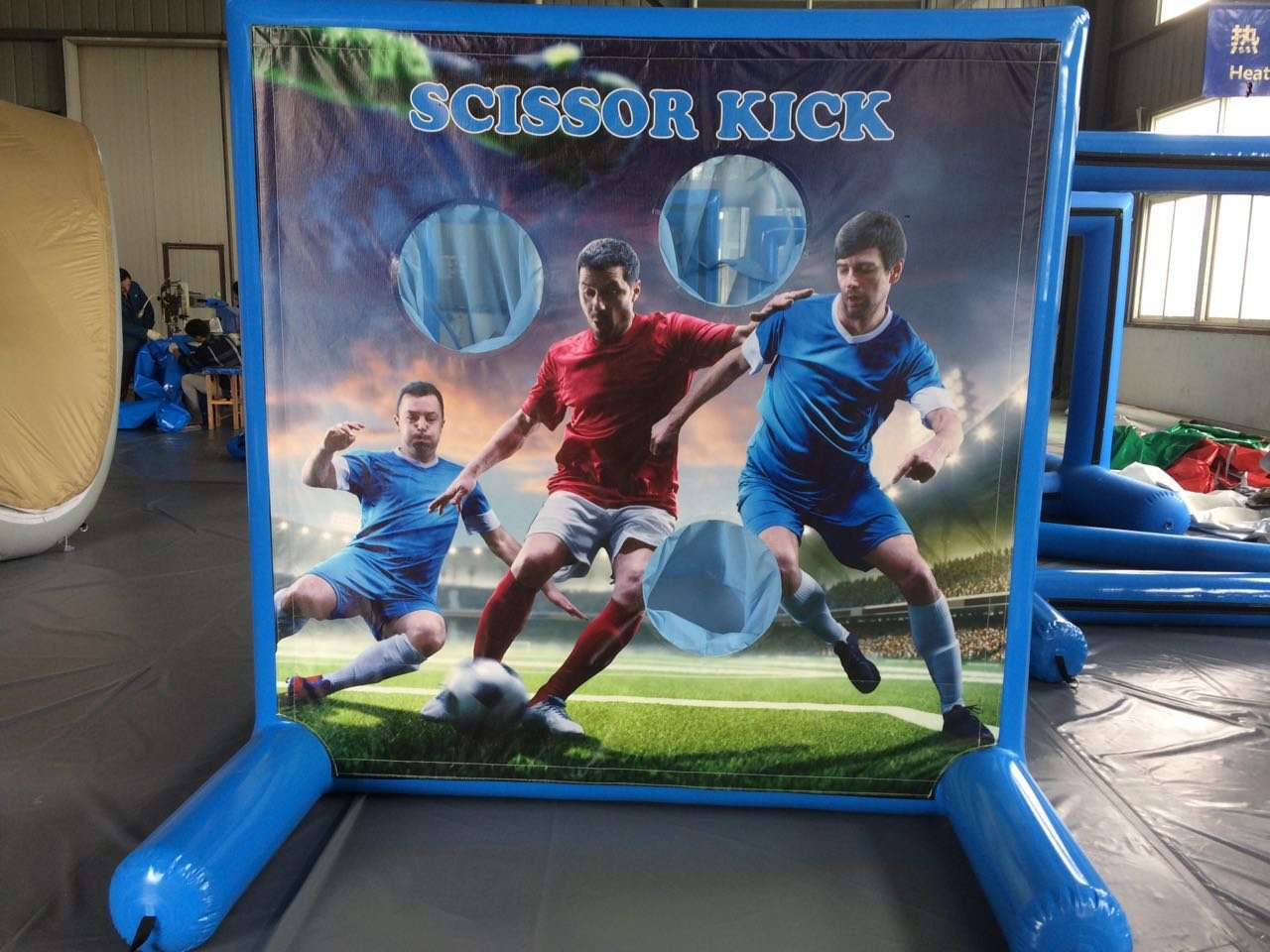 Soccer Game for Sealed Inflatable Air Frame Game with Panel, Hand Pump, and Stakes Included for Carnivals, Schools, Churches, Birthday Parties, and Other Events