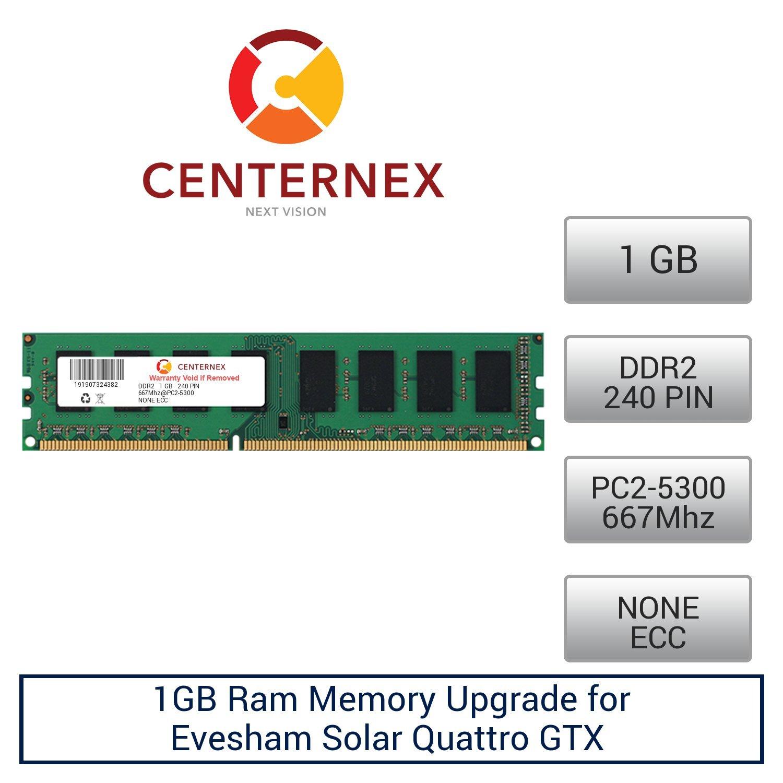 1GB RAM Memory for Evesham Solar Quattro GTX (DDR25300 NonECC) Desktop Memory Upgrade by US Seller