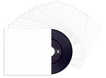 TunePhonik de 7 Pulgadas de Vinilo Blanco Recubierto de 45 Chaquetas-No Center Hole | 25 Pack: Amazon.es: Electrónica