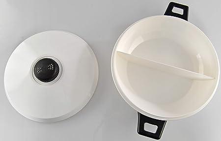 Amazon.com: HOME-X - Cacerola de 2 secciones con tapa y 2 ...