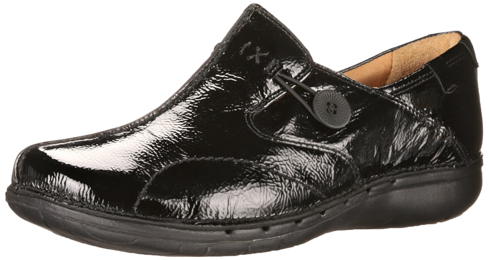 Clarks Women's Un Loop Flat, Black Patent Leather, 6.5 M US