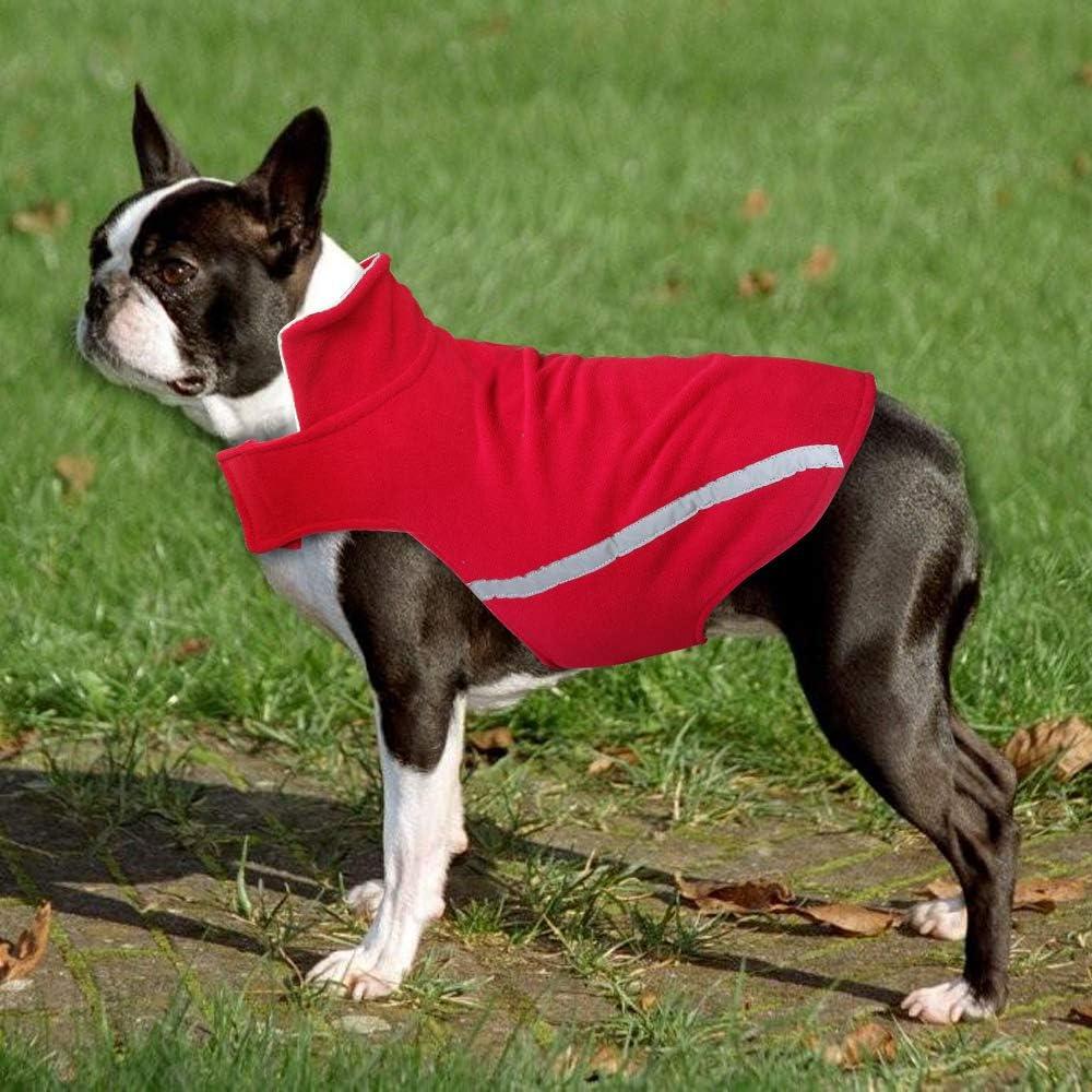 Boxer Golden Retriever Labrador XS//S//S//M//L//XL//2XL//3XL Outfits f/ür Chihuahua Mops reflektierend Fleece-Jacke Pet Artist Hundemantel Rottweiler Winddicht