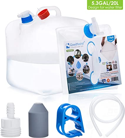 2 Gallon Expand-A-Jug Water Carrier W// Spigot for Emergency Supply Storage Camp