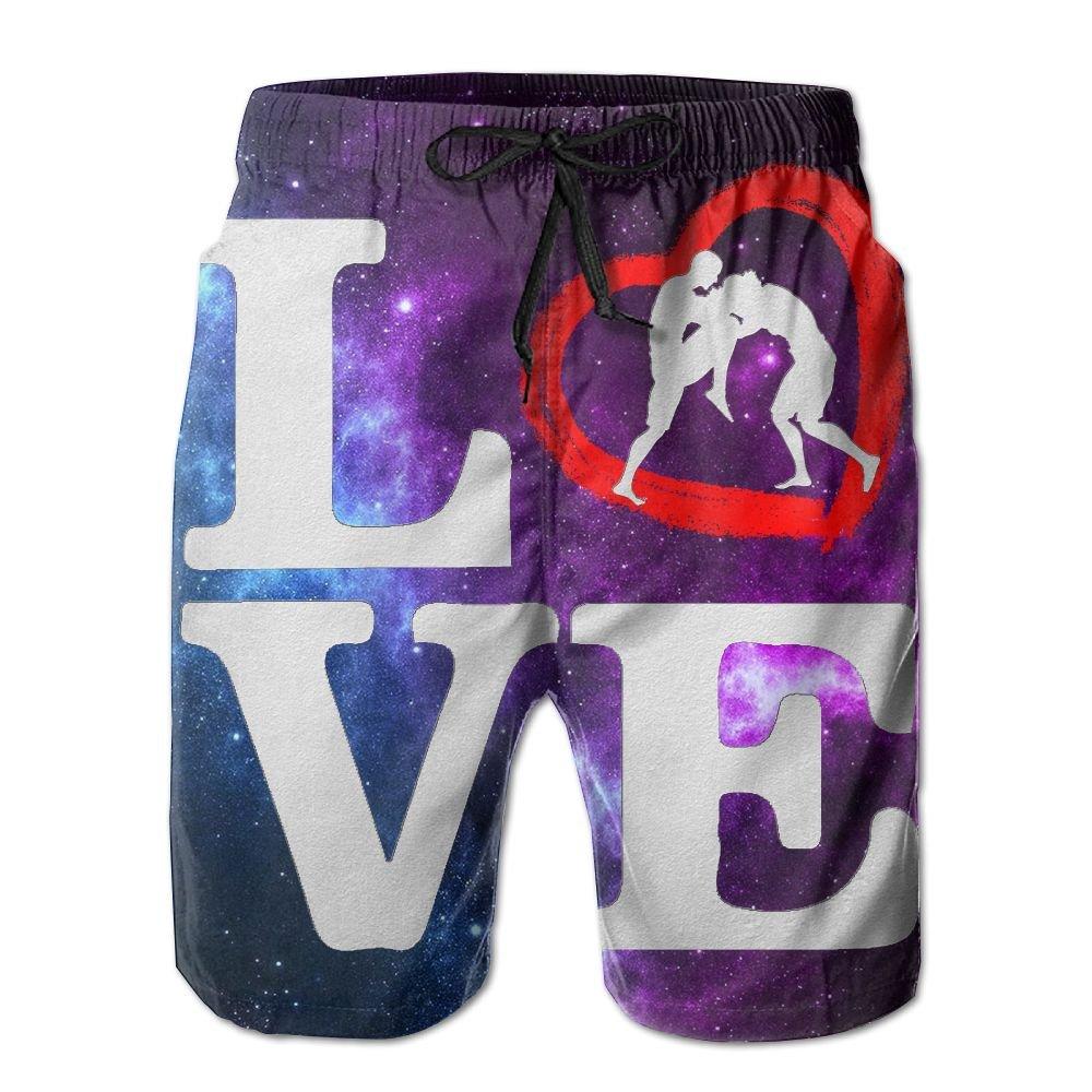 Love Wrestling Men's Summer Beach ShortsXL