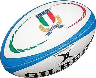 Gilbert Italie - Ballon de Rugby Réplique Officiel - Bleu/Blanc Multicolore 5 Grays 41034805