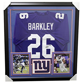 d9b30b29584 Saquon Barkley New York Giants Framed Autographed Signed Jersey - JSA  Authentic