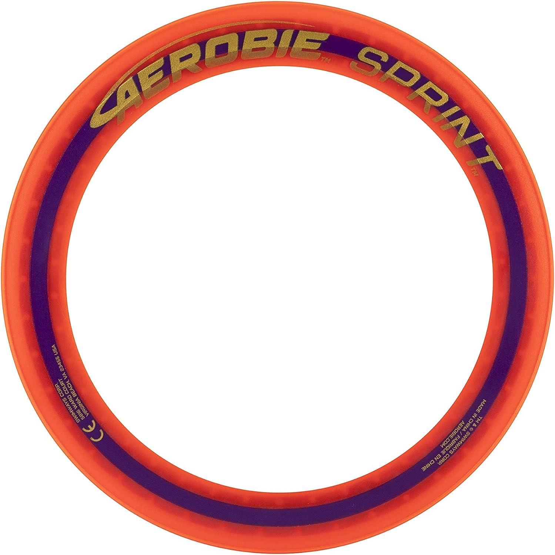 Arancione colore 6046392 Aerobie-Sprint Flying anello con diametro 25,4 cm