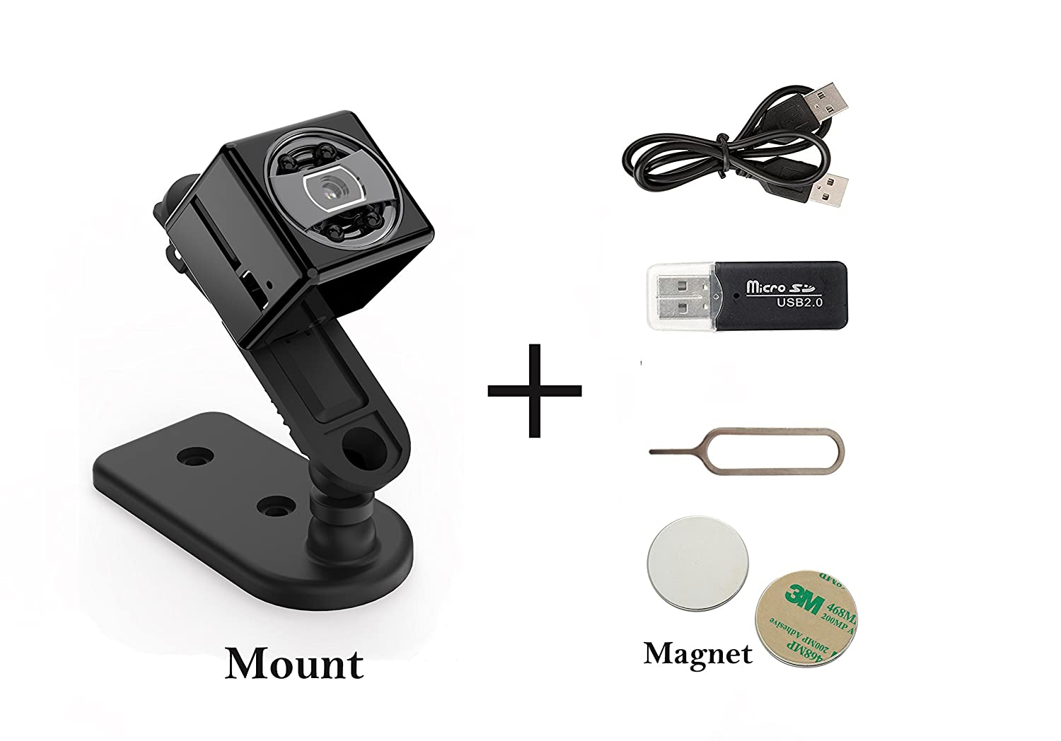 Amazon.com : Spy Hidden Camera with Night Vision [Newest Model] Smart Mini Spy with Motion Detection, Loop Recording, Cámara oculta - by Vicksa : Camera & ...