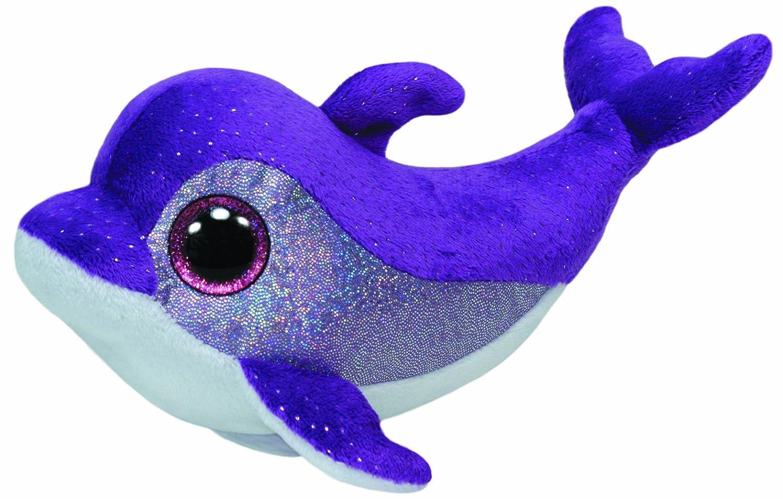 Ty - Flips, peluche delfín, 15 cm, color lila (36712TY): Amazon.es: Juguetes y juegos