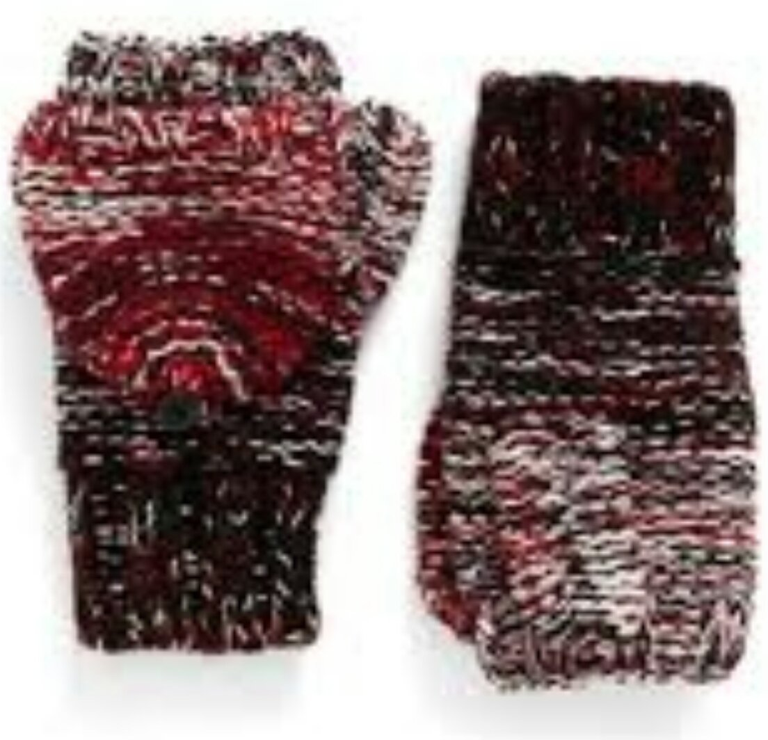 Rebecca Minkoff Degrade Pop Top Mittens, Ruby
