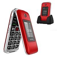 Ushining Senior Flip Phone Unlocked 3G SOS Big Button Unlocked T Mobile Flip Phone 2.8