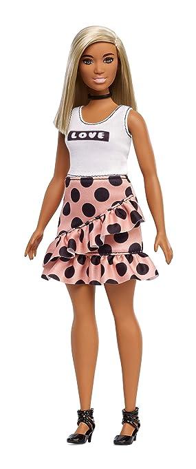 Amazon.es: Barbie Fashionista - Muñeca con pelo liso y falda con ...