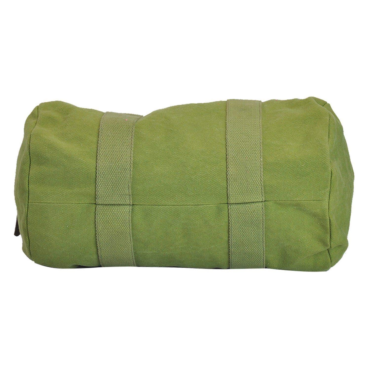 Canvas /& Awl Green Canvas /& Leather Trim Unisex Duffel Bag /…
