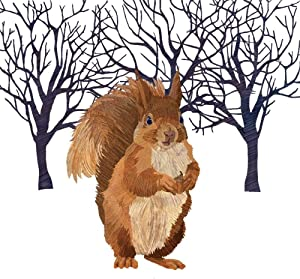 Paperproducts Design Decorative Beverage Paper Napkins – Tabletop Disposable Kitchen Cocktail Napkin – For Lunch, Dinner, Birthdays, Parties – Set of 20, Patti Gay/Two Can Art Winter Squirrel Design