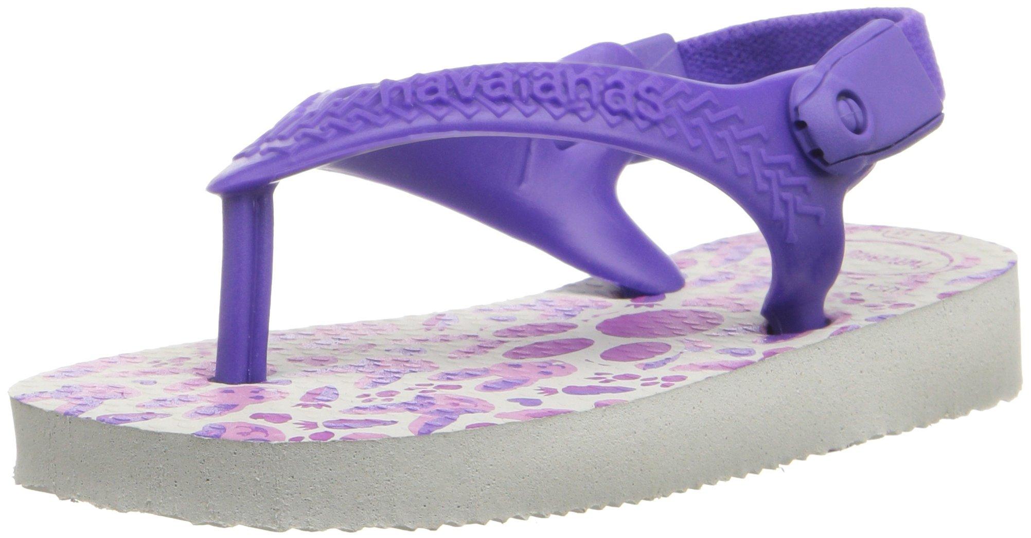 Havaianas Kids Flip Flop Sandals, Baby Pets, Ice Blue/Navy Blue,White/Purple,21 BR (7 M US Toddler)