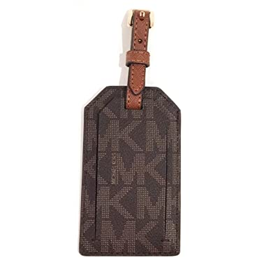 10ffc01b75ad Image Unavailable. Image not available for. Color  Michael Kors Jet Set  Travel Luggage Tag Signature MK Brown