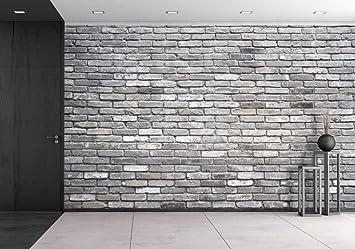 Wall26   Grey Brick Wall   Removable Wall Mural | Self Adhesive Large  Wallpaper   Part 79