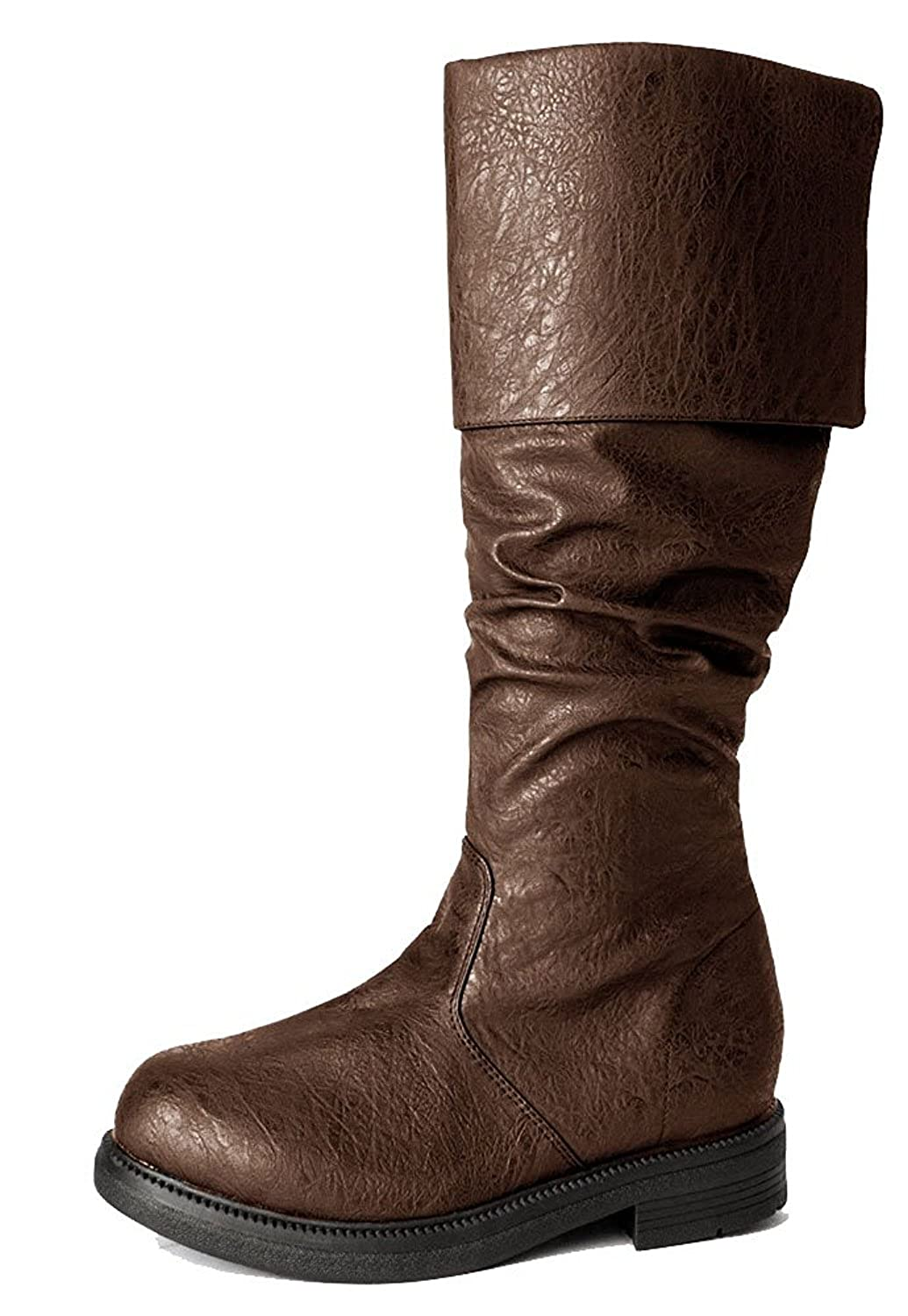 Deluxe Adult Costumes - Men's brown Assassin's Creed rustic cuffed faux leather boots