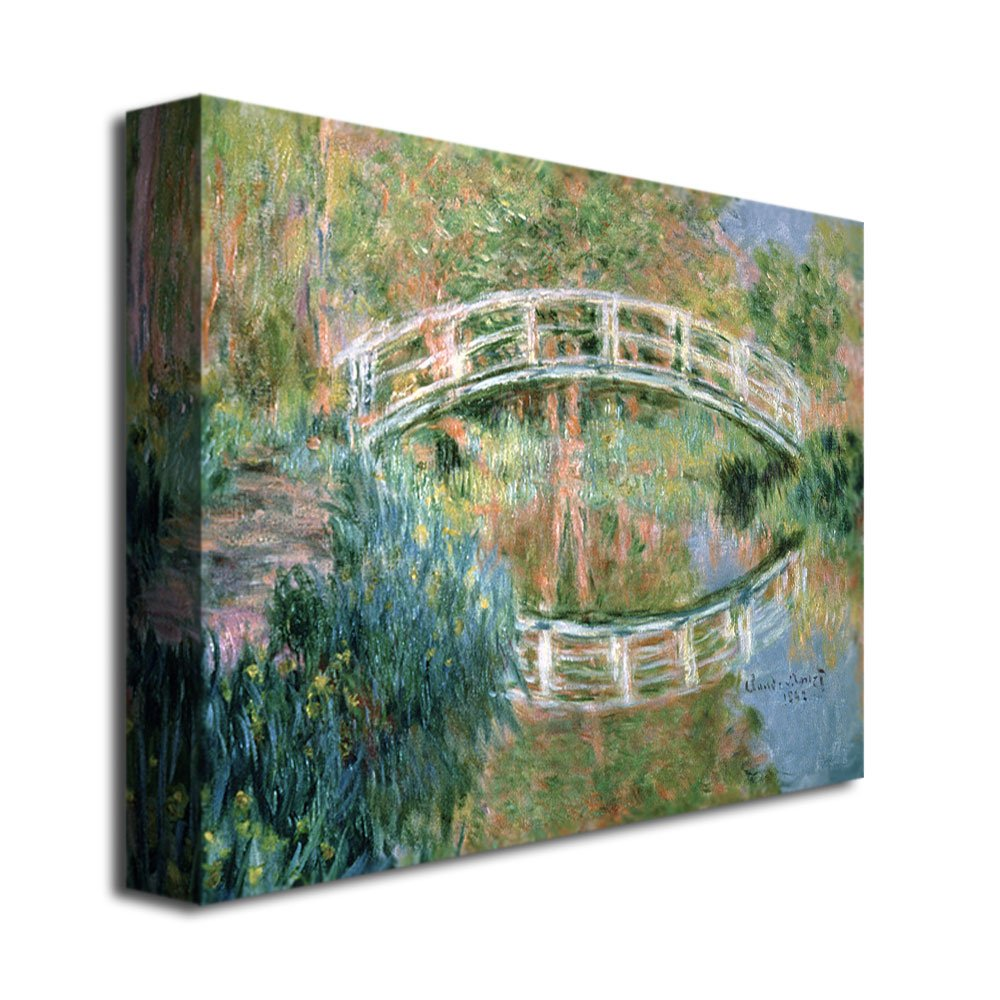 The Japanese Bridge, Giverny by Claude Monet, 24×32-Inch Canvas Wall Art