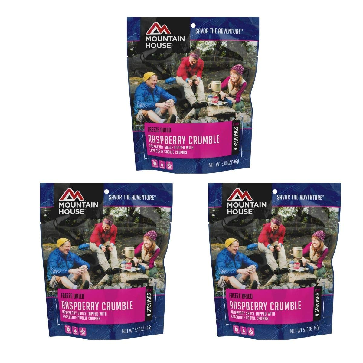 Mountain House Freeze Dried Raspberry Crumble, 5.15 OZ (Pack of 3)