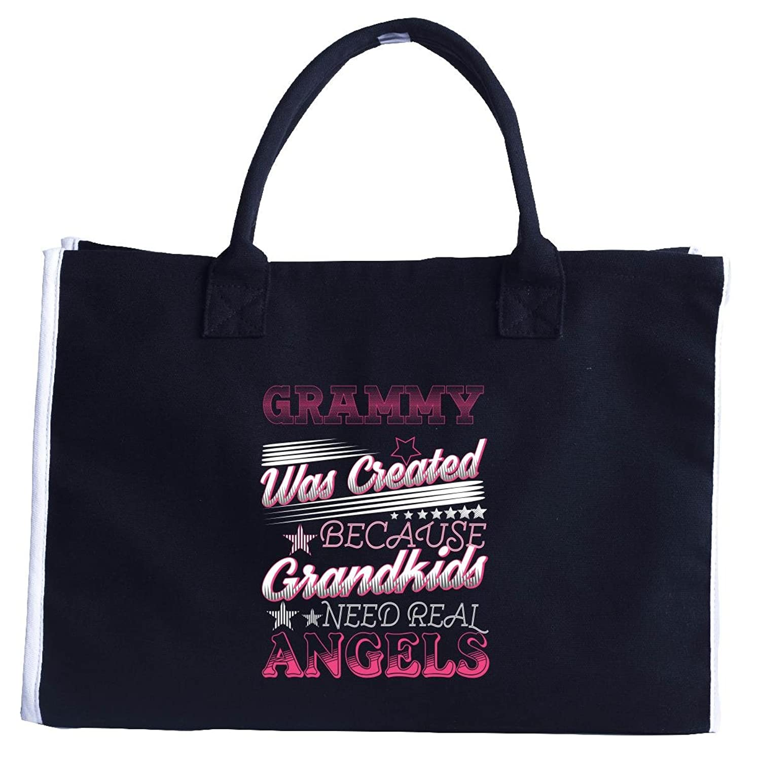Grammy Created Because Grandkids Need Real Angels - Tote Bag