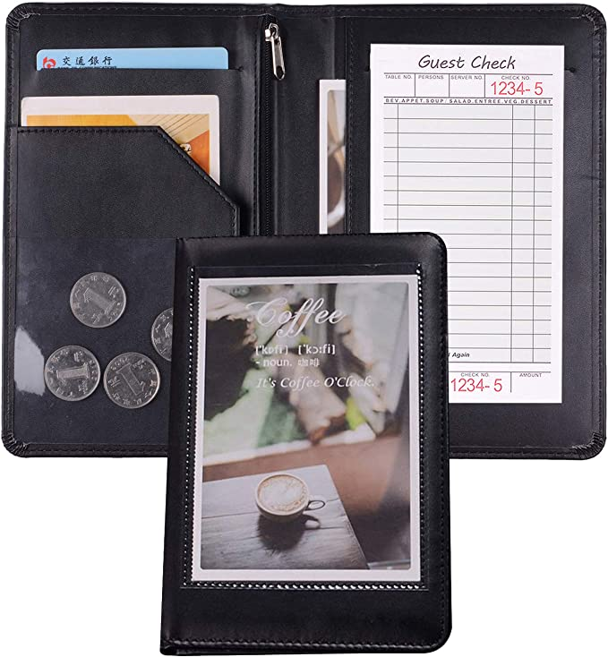 Professional Catering Leather stages Waiter Wallet Waiter Wallet