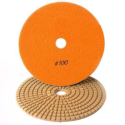 "Specialty Diamond 7100WPAD 7"" 100 Grit Wet Diamond Polishing Pad (7100WETPAD): Home Improvement"