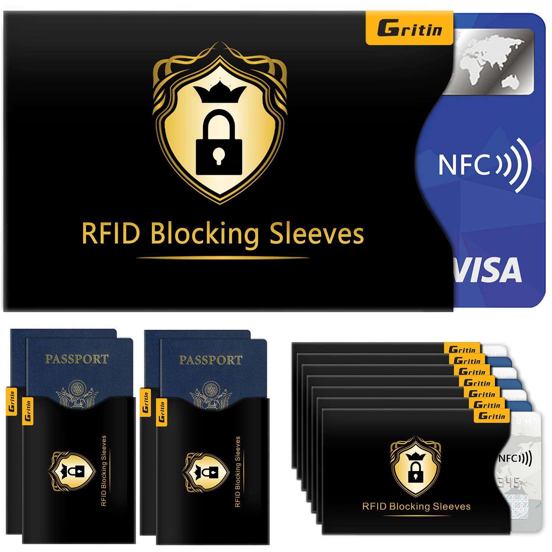 f57b175bb96e6 RFID Schutzhülle (18 Stück) Gritin NFC Schutzhülle Kreditkartenhüllen  Blocking für Kreditkarte