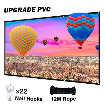 NIERBO - Pantalla para proyector (PVC, 16