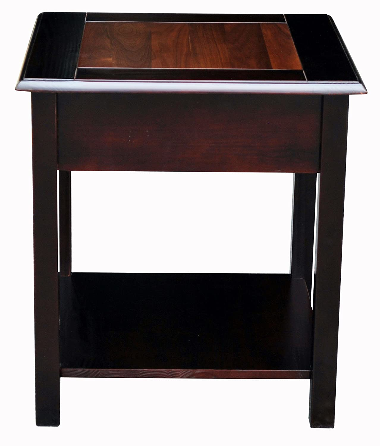 Amazon.com: American Trails Nassau End Table With American Walnut Top:  Kitchen U0026 Dining