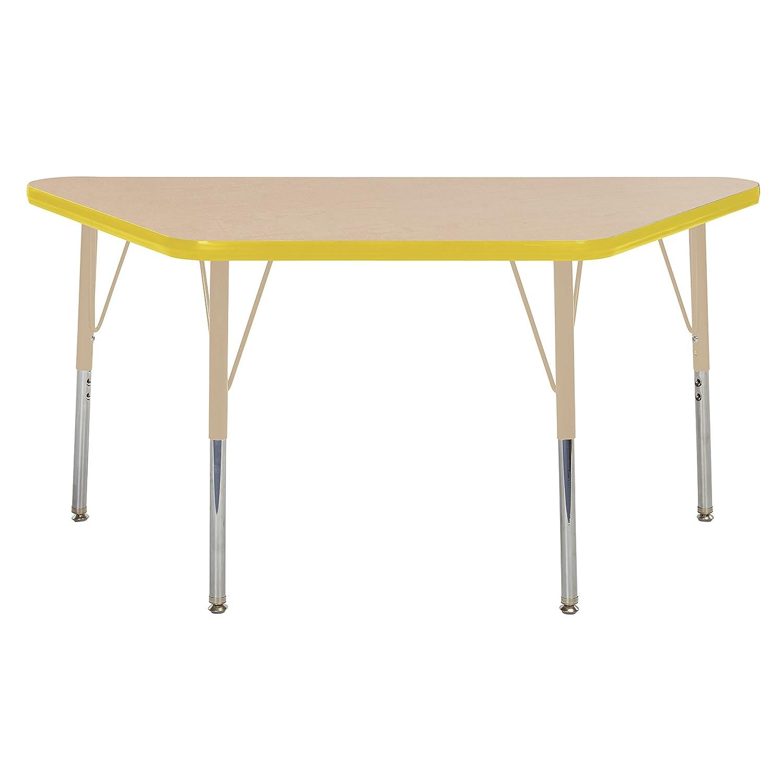 Adjustable Height 19-30 inch Grey//Black Standard Legs w//Swivel Glides ECR4Kids Everyday T-Mold 24 x 36 Rectangular Activity School Table
