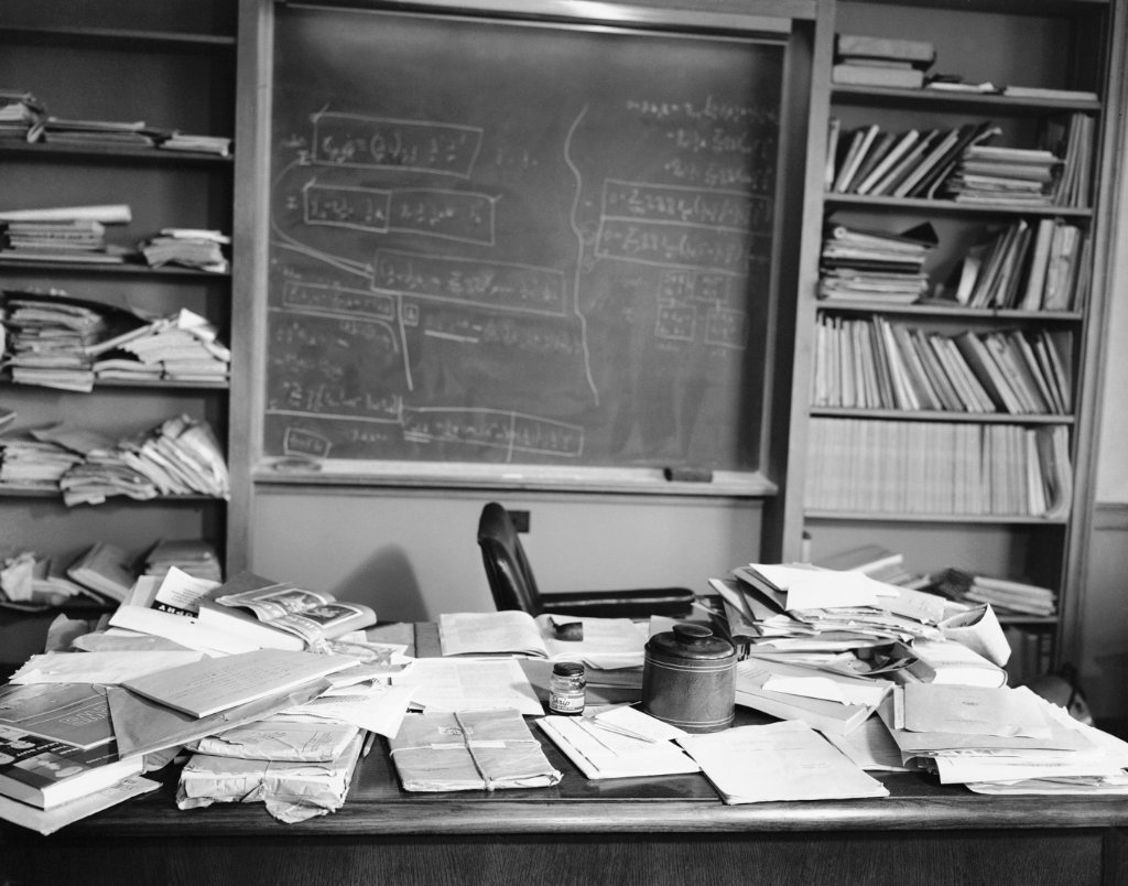 Albert Einstein's Desk The Day He Died Photo Art Photos Artwork 8x10 Perfect Posters and Pics