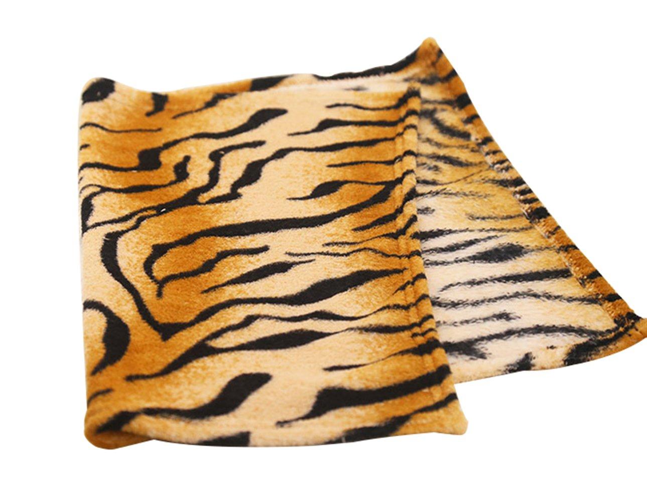Freerun Coral Fleece Blanket, Warm and Soft All Seasons Blanket, Micro Plush Blanket, Tiger Print Pattern (L)
