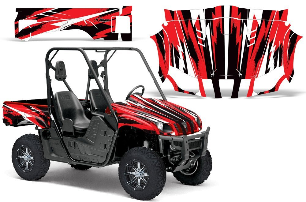 2004-2013 Yamaha Rhino 450/660/700 AMRRACING SXS Graphics Decal Kit:Attack-Red