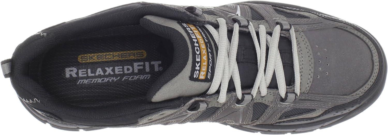 skechers men's relaxed fit memory foam rig hiking shoe