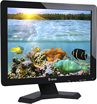 Eyoyo 17 Pulgadas 4:3 Ultra LCD TFT Monitor 1080P USB VGA HDMI BNC AV 1280x1024 para CCTV PC DVD: Amazon.es: Electrónica