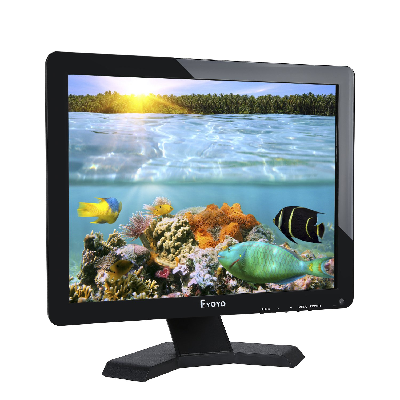Eyoyo 17inch Widescreen LCD Monitor 1280x1024 Resolution 4:3 FHD 1080P HD  Video Audio Display Screen HDMI BNC VGA AV USB In/OutG1 Earphone(17''  1280x1024 ...