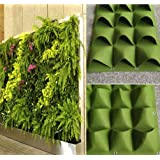 4-49 Pockets Outdoor Indoor Wall Herbs Vertical Garden Hanging Planter Bag Green (8 Pockets)